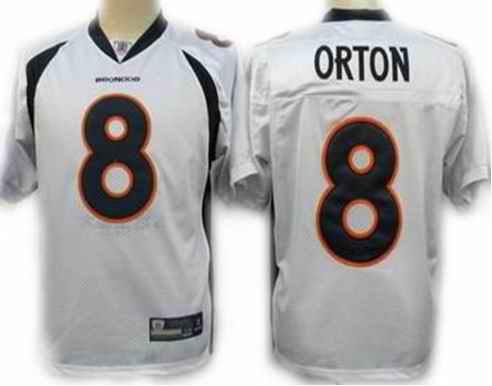 Broncos 8 Kyle Orton white jerseys