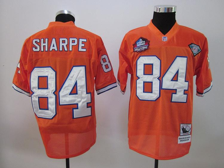 Broncos 84 Sharp Orange Hall of Fame Jerseys