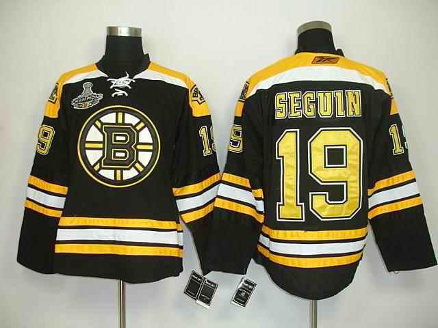 Bruin 19 Seguin Black Champions Jerseys