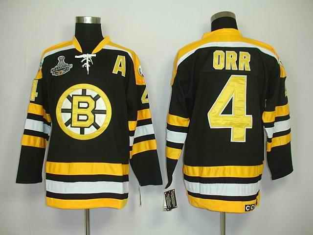 Bruins 4 Orr Black Champions Jerseys