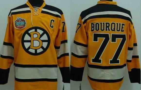 Bruins 77 Bburque Winter Classic Yellow Jerseys