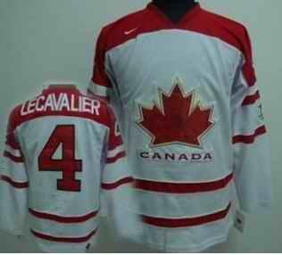 Canada 4 LECAVALIER White Jerseys