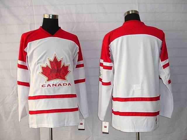 Canada Blank White Jerseys