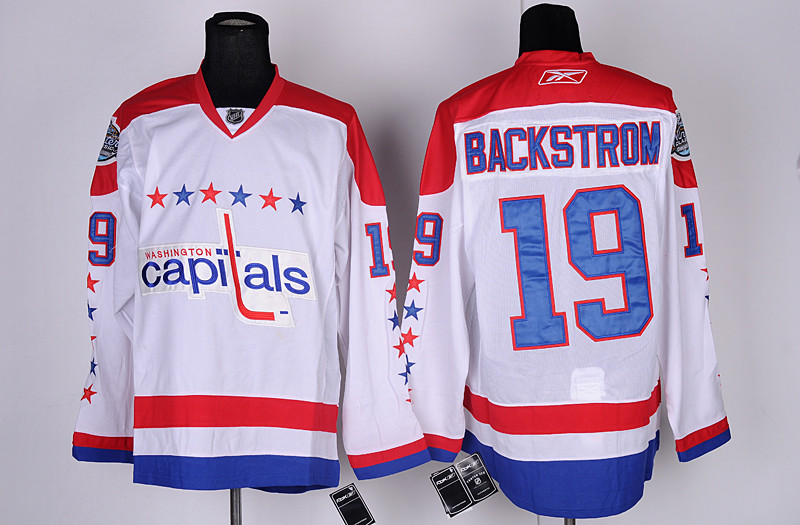 Capitals 19 Backstrom White Winter Classic Jerseys