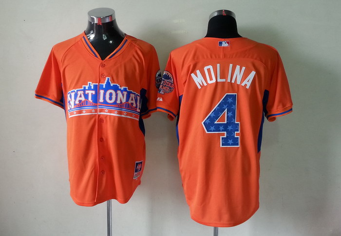 Cardinals 4 Molina orange 2013 All Star Jerseys