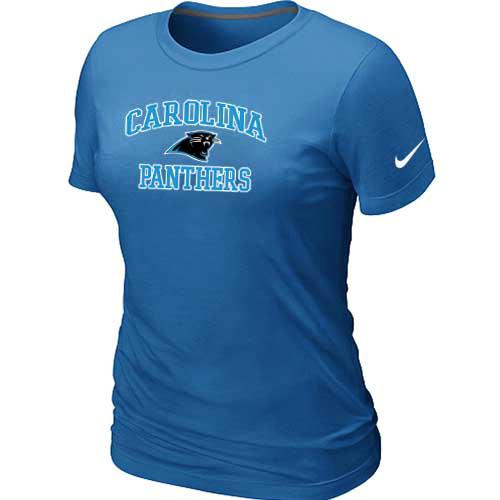 Carolina Panthers Women's Heart & Soul L.blue T-Shirt