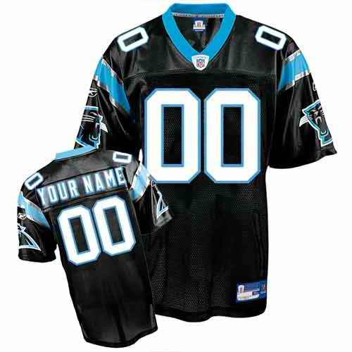 Carolina Panthers Youth Customized black Jersey