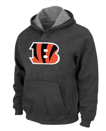 Cincinnati Bengals Logo Pullover Hoodie D.Grey