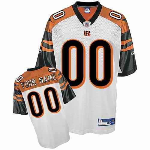 Cincinnati Bengals Youth Customized white Jersey