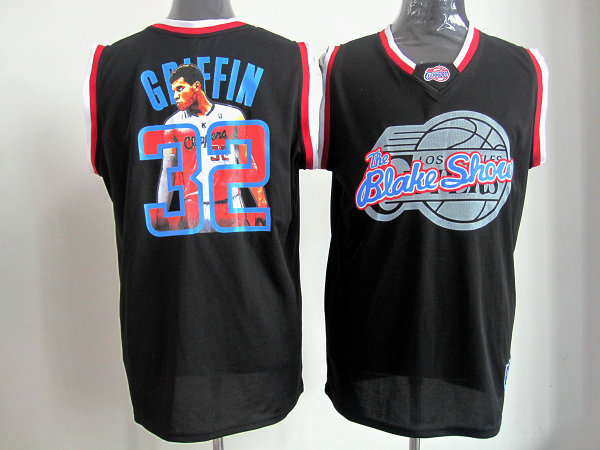 Clippers 32 Griffin Black Jerseys
