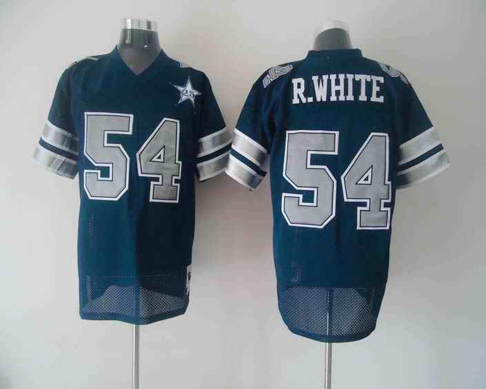 Cowboys 54 R.WHITE blue jerseys