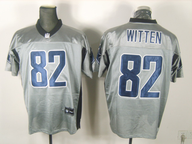 Cowboys 82 Witten Grey Jerseys