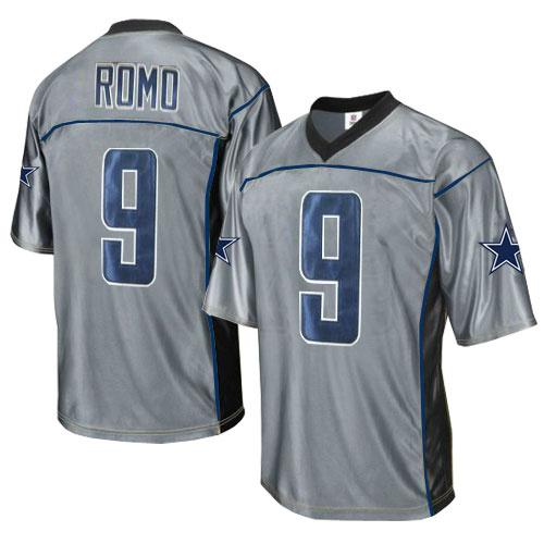 Cowboys 9 Romo Grey Jersey