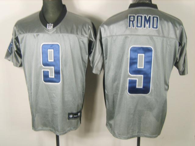 Cowboys 9 Romo Grey Jerseys