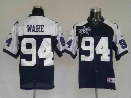 Cowboys 94 Ware Blue Thanksgivings 50th Anniversary Jerseys