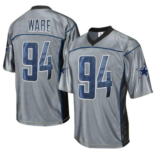 Cowboys 94 Ware Grey Jersey