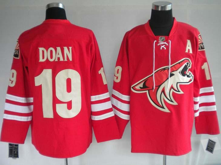 Coyotes 19 Doan red Jerseys