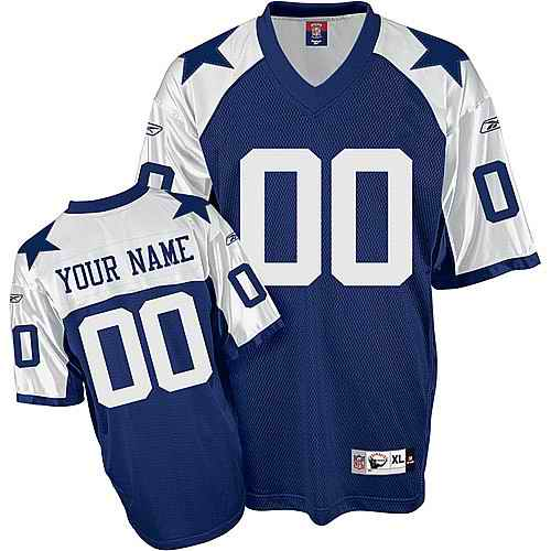 Dallas Cowboys youth Customized blue thanksgiving Jersey