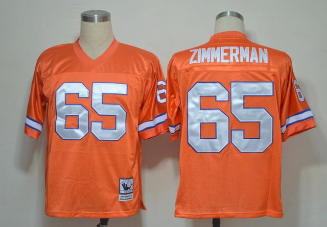 Denver Broncos 65 Gary Zimmerman Orange Throwback Jerseys