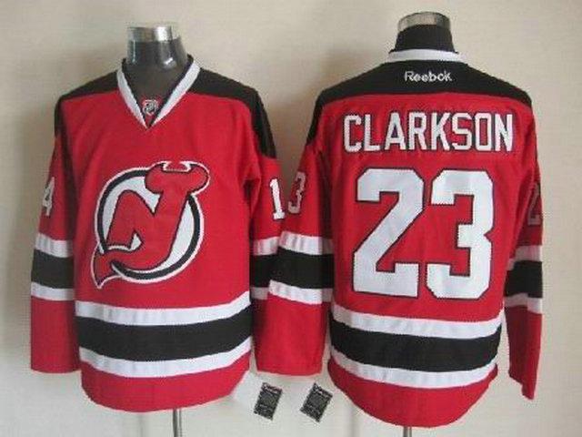 Devils 23 Clarkson Red Jerseys