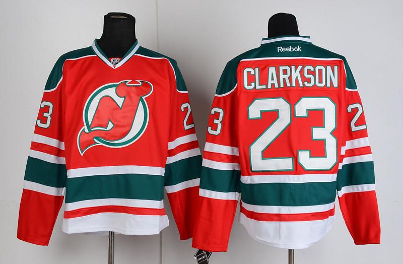Devils 23 Clarkson Red New Jerseys