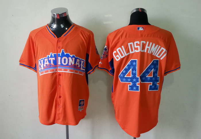Diamondbacks 44 Goldschmidt orange 2013 All Star Jerseys