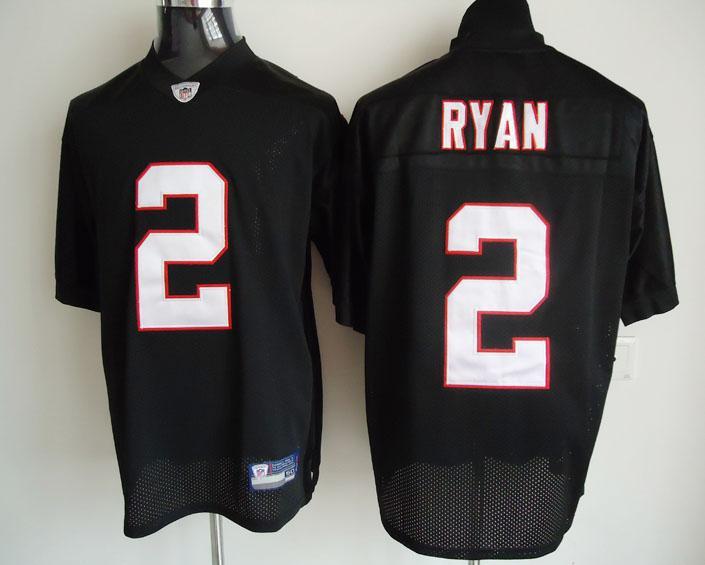 Falcons 2 Matt Ryan All Black Jerseys