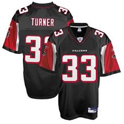 Falcons 33 Michael Turner black Jerseys