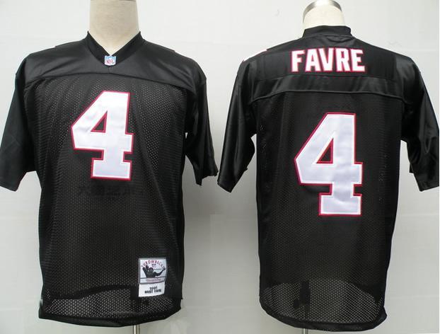 Falcons 4 Brett Favre black Jerseys