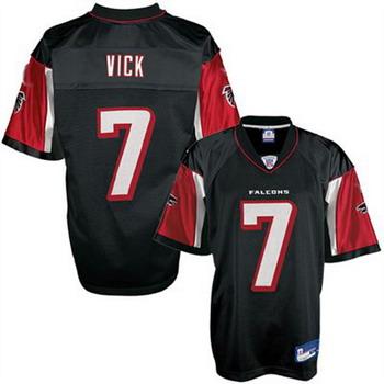 Falcons 7 Michael Vick Black Jerseys