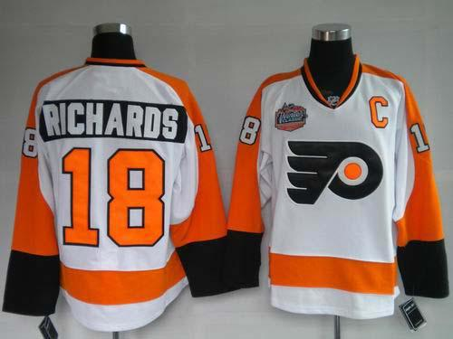 Flyers 18 Mike Richards 2010 Winter Classic Premier Jerseys