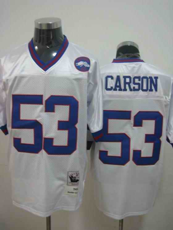 Giants 53 Harry Carson Throwback white Jerseys