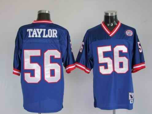 Giants 56 Lawrence Taylor blue Throwback Jerseys
