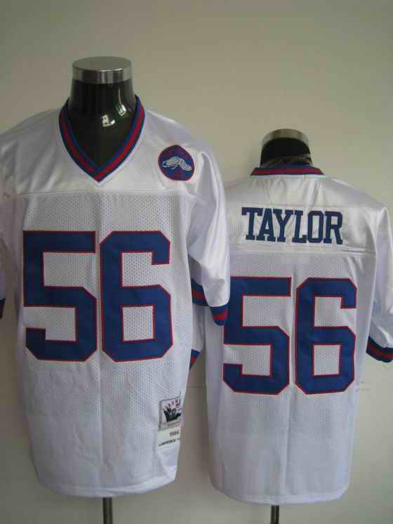 Giants 56 Lawrence Taylor white Throwback Jerseys