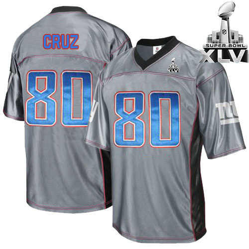 Giants 80 Cruz Grey 2012 Super bowl Jerseys