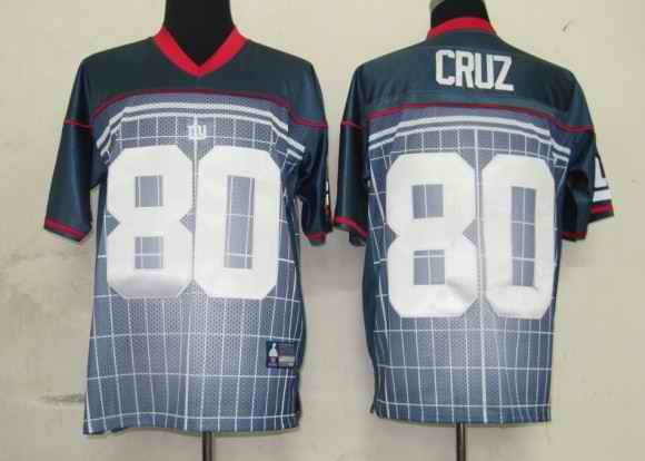Giants 80 Cruz Grey Super Bowl XLVI Jerseys