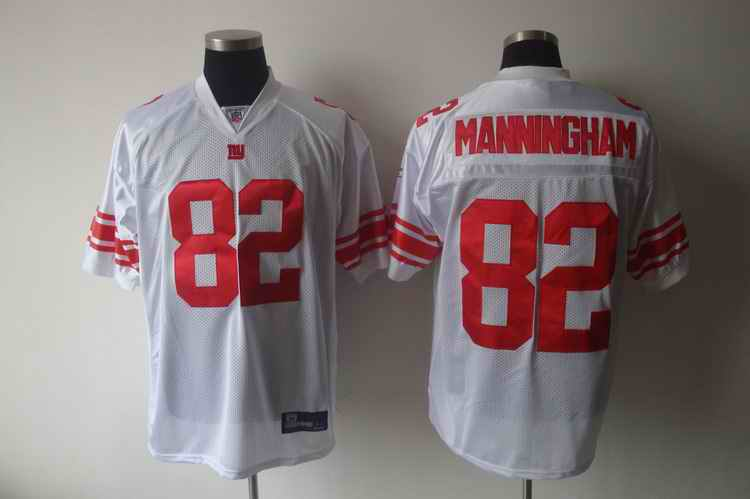 Giants 82 MANNINGHAM white jerseys