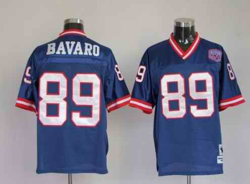 Giants 89 Mark Bavaro blue Throwback Jerseys