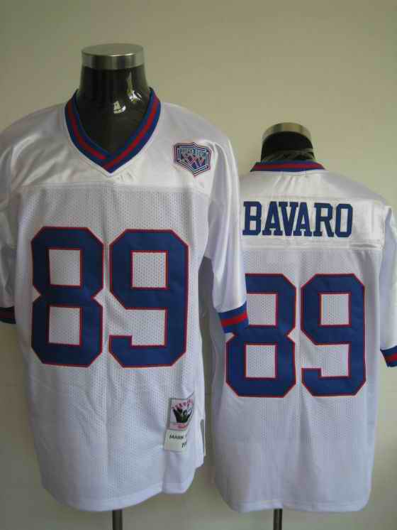 Giants 89 Mark Bavaro white Throwback Jerseys