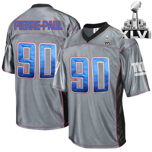 Giants 90 Pierre-Paul Grey 2012 Super bowl Jerseys
