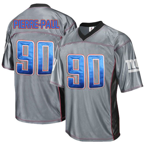 Giants 90 Pierre-Paul Grey Jersey