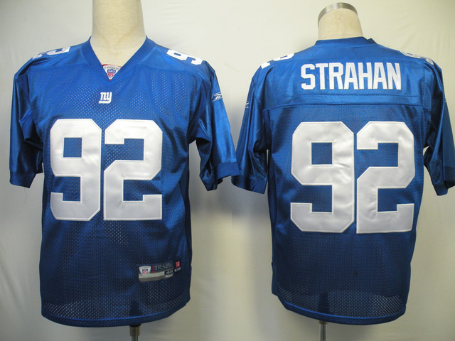 Giants 92 Strahan Blue Jerseys