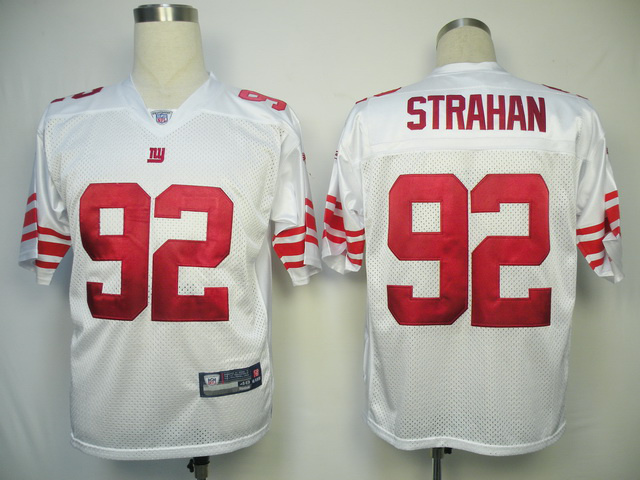 Giants 92 Strahan White Jerseys