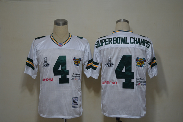 Green Bay Packers 4 Superbowl Champs White Jerseys