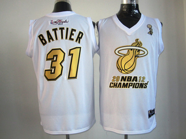 Heat 31 Battier White Champions Jerseys