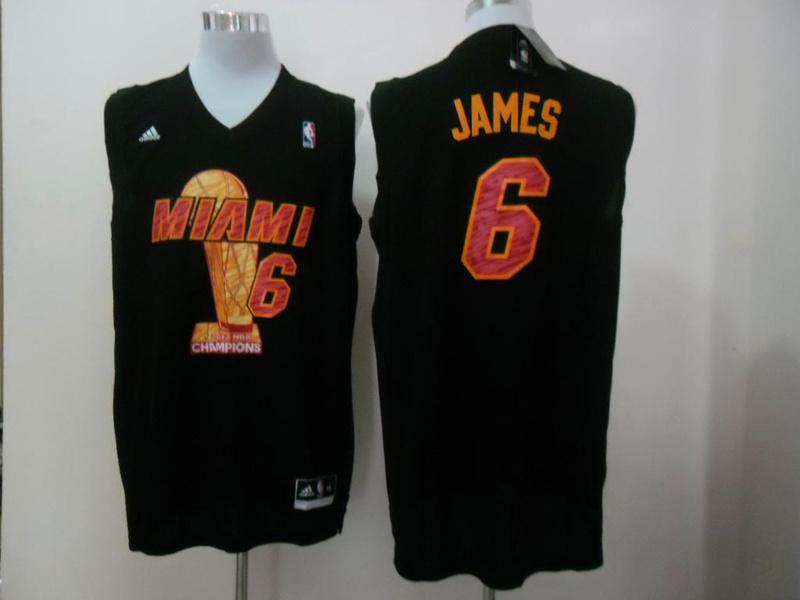 Heat 6 James Black 2013 Champions Jerseys
