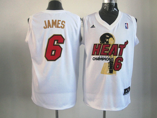 Heat 6 James White 2012 NBA Champions Jerseys