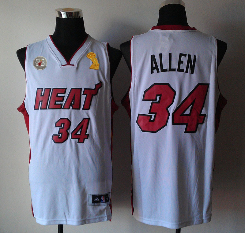 Heats 34 Allen White 2013 Champion&25th Patch Jerseys