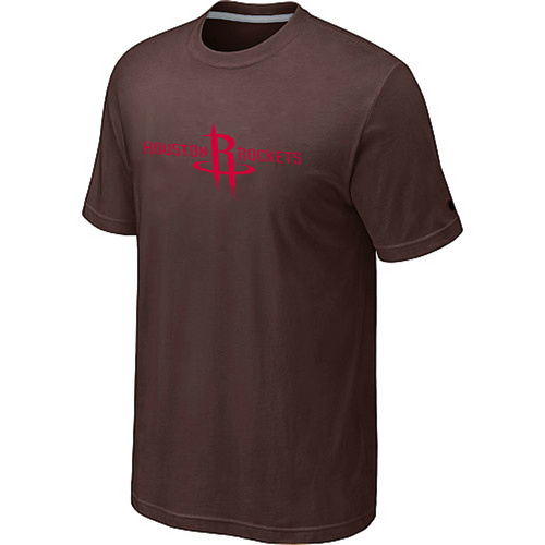 Houston Rockets adidas Primary Logo T-Shirt -Brown