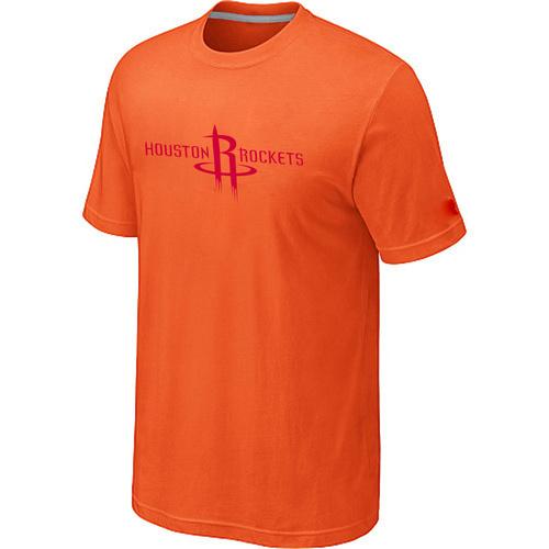 Houston Rockets adidas Primary Logo T-Shirt -Orange